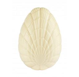 Œuf M garni 13 cm blanc