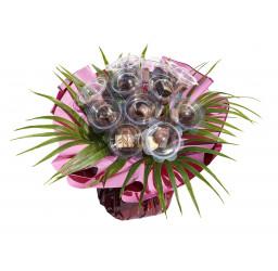 Bouquet de fleurs en chocolat