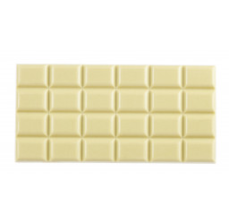 Tablette chocolat blanc au...